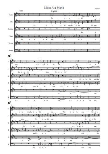 Missa Ave Maria a 6 Partition gratuite