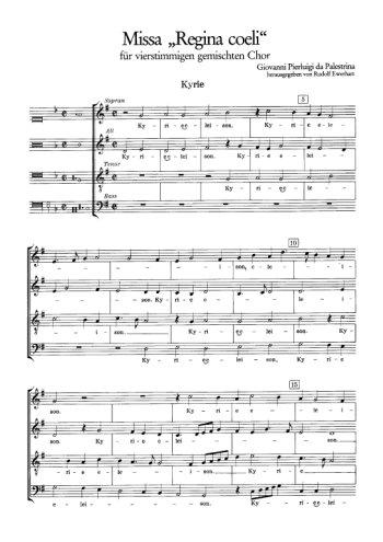 Missa Regina coeli Partition gratuite