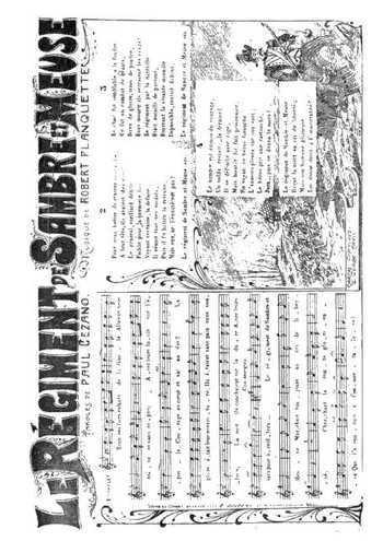 Le régiment de Sambre et Meuse Partition gratuite