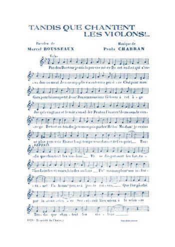 Tandis que chantent les violons Partition gratuite