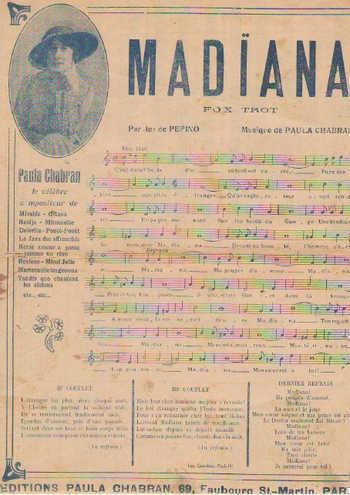 Madïana Partition gratuite