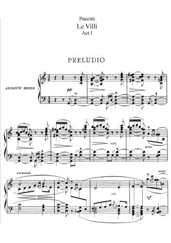 Le Villi, opéra complet Partition gratuite