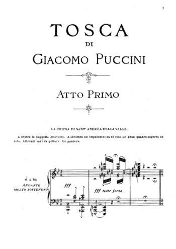 Tosca, Acte I Partition gratuite