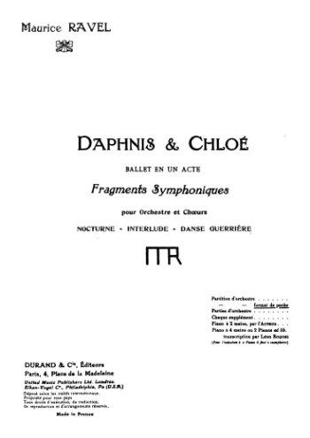 Daphnis et Chloé Partie I Partition gratuite