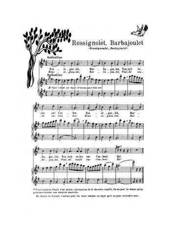 Rossignolet, Barbajoulet Partition gratuite