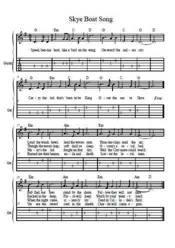 Skye boat song Partition gratuite