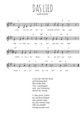 Das Lied Partition gratuite