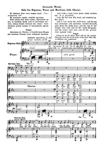 Les sept paroles du Christ 7. Septième parole Partition gratuite