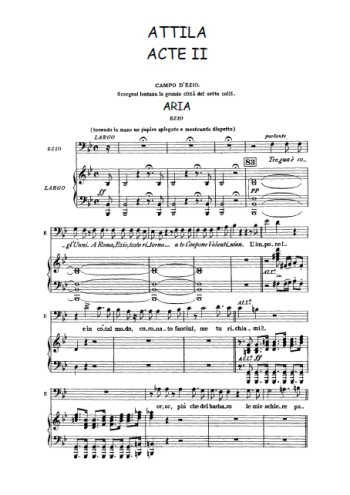 Attila, Acte II Partition gratuite