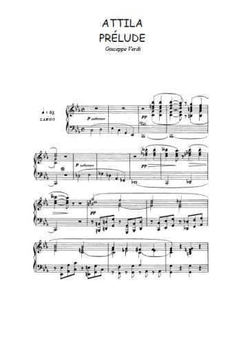 Attila, prélude et prologue Partition gratuite