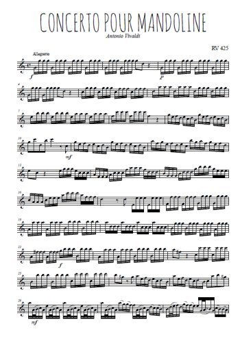 Concerto pour mandoline Partition gratuite