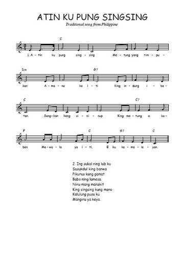Atin ku pung singsing Partition gratuite