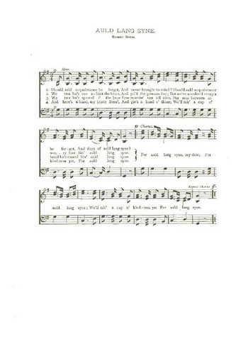 Auld lang syne (3) Partition gratuite