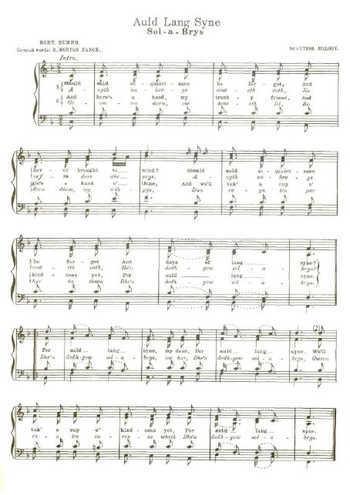 Auld lang syne (4) Partition gratuite