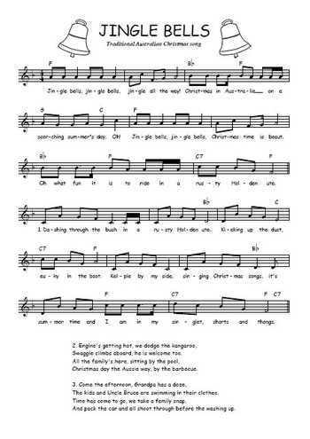 Australian Jingle Bells Partition gratuite