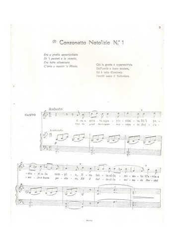 Canzonetta Natalizia N°1 Partition gratuite