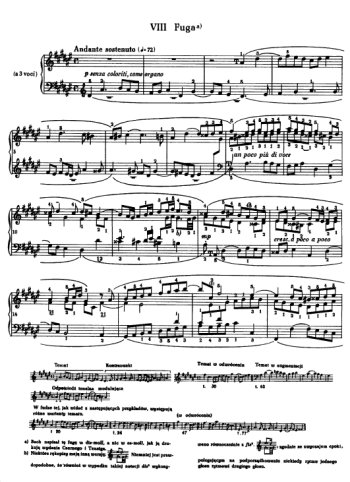 Clavier bien tempéré, prélude et fugue N°8 en Mib mineur Partitions gratuites