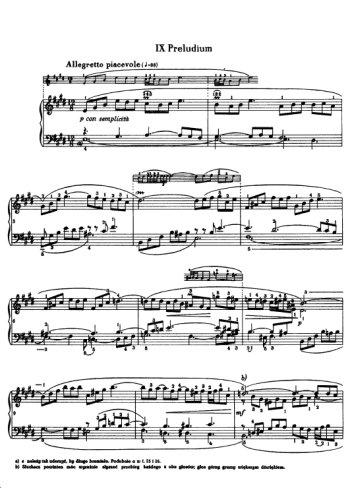 Clavier bien tempéré, prélude et fugue N°9 en Mi Partition gratuite