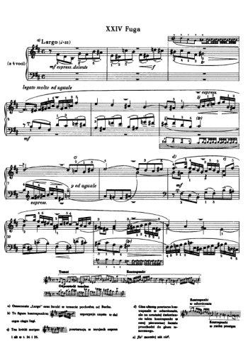Clavier bien tempéré, prélude et fugue N°24 en sim Partitions gratuites