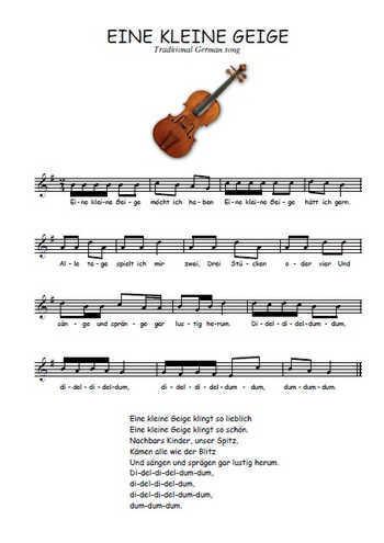 Eine kleine Geige Partition gratuite