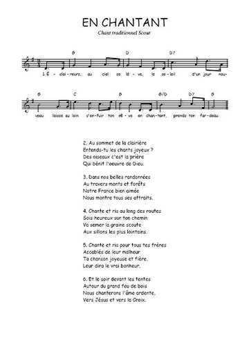 En chantant Partition gratuite