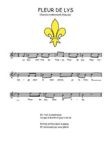 Fleur de Lys Partition gratuite