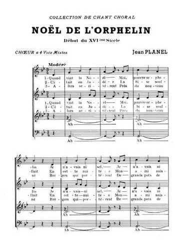 Noël de l'orphelin (Jean Planel) Partition gratuite