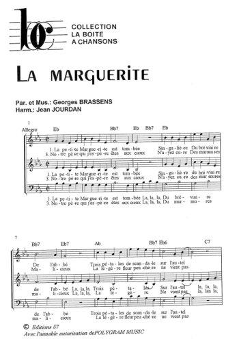La marguerite, La boîte à chansons