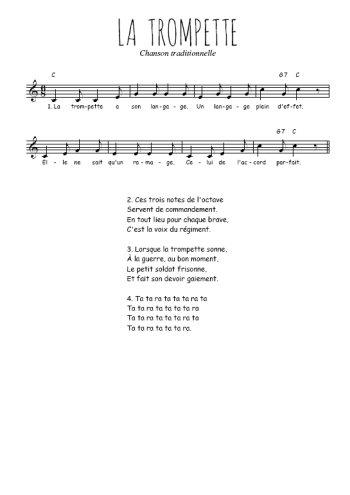 La trompette Partition gratuite