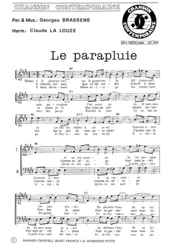 Le parapluie, La boîte à chansons