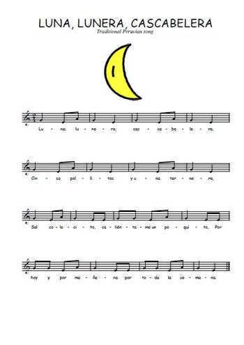 Luna, lunera, cascabelera Partition gratuite