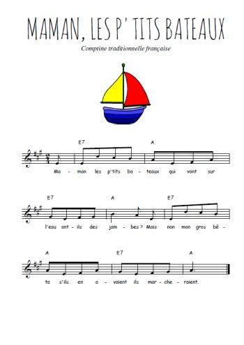Maman les p'tits bateaux Partition gratuite