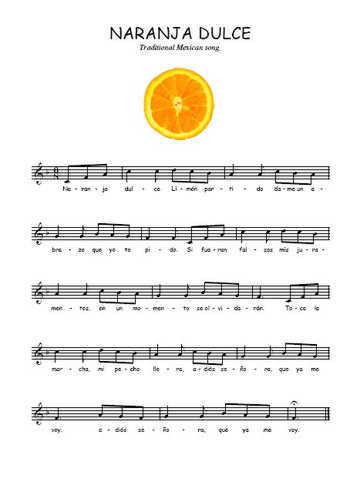 Naranja dulce Partition gratuite