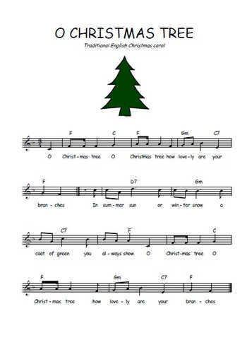 O Christmas tree Partition gratuite