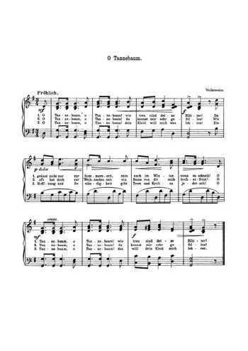 O tannenbaum (2) Partition gratuite