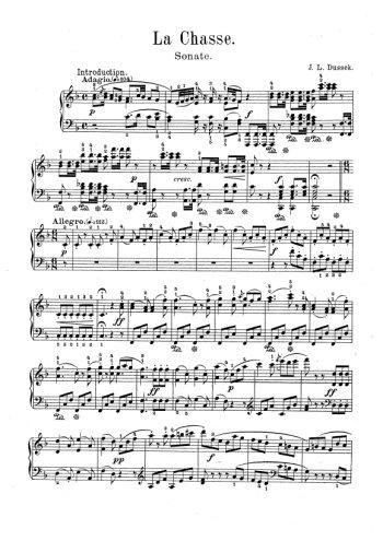 Six pièces pour piano 5. La chasse Partitions gratuites