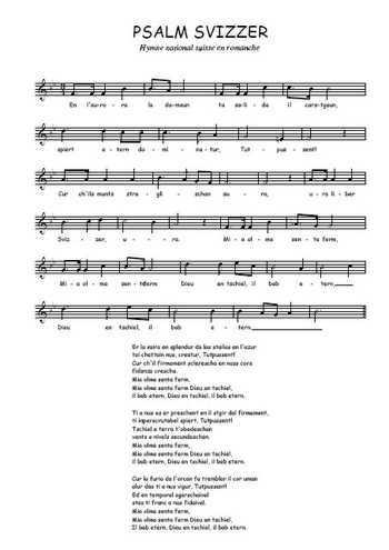 Psalm svizzer Partition gratuite