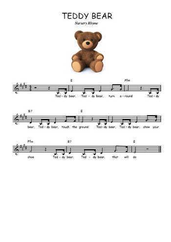 Teddy bear Partition gratuite