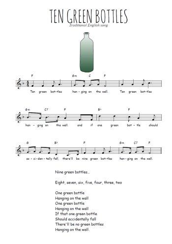 Ten green bottles Partition gratuite