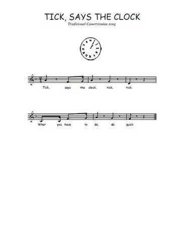 Tick says the clock Partition gratuite