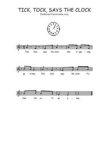 Tick tock says the clock Partition gratuite