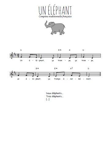 Un éléphant Partition gratuite
