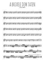 Téléchargez la partition de la musique yiddish-a-brivele-dem-taten en PDF, pour violon
