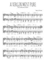 Téléchargez l'arrangement de la partition de Traditionnel-A-Virgin-most-pure en PDF à deux voix