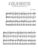 Téléchargez la partition de A Virgin unspotted en PDF pour 2 voix égales et piano
