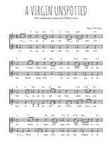 Téléchargez l'arrangement de la partition de Traditionnel-A-Virgin-unspotted en PDF à deux voix