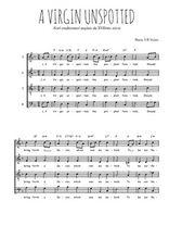 Téléchargez l'arrangement de la partition de Traditionnel-A-Virgin-unspotted en PDF à quatre voix