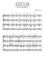 Téléchargez la partition de Adon Olam en PDF pour 2 voix égales et piano