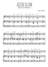 Téléchargez la partition de Adon Olam en PDF pour Chant et piano