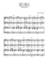 Téléchargez la partition de Mélimba en PDF pour 2 voix égales et piano